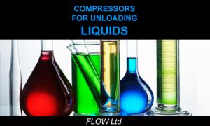 Compressor for unloading liquids material