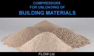 bulk compressors for discharge cement and ather bulk materials