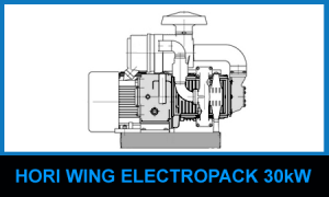 Cair compressor with electric motor for unloading cement, discharge dry powdered materials