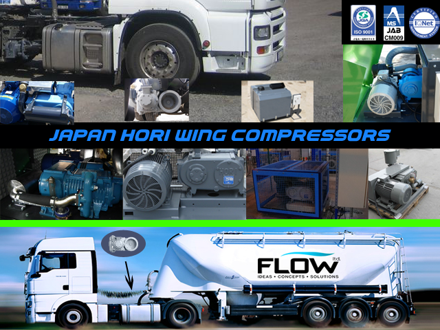 compressors for cement and other bulk material